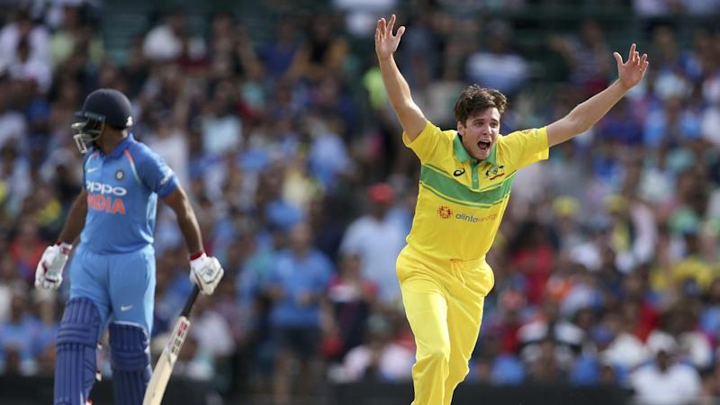 Jhye Richardson has claimed 4-26 to spearhead an Australian ODI victory over India at the SCG