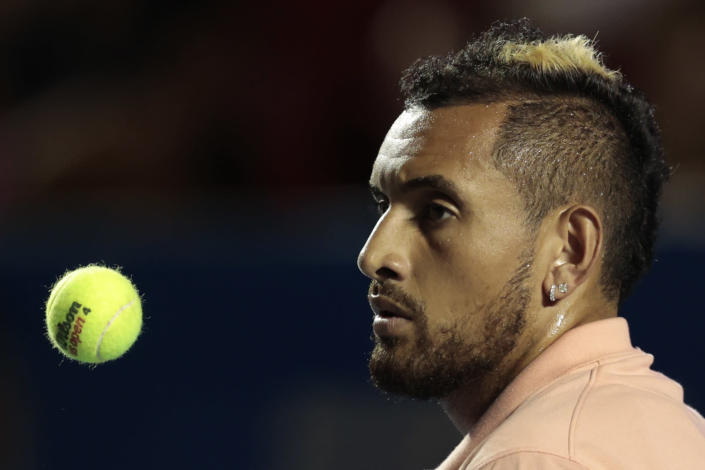 Which players will join Nick Kyrgios in pulling out of the US Open? (AP Photo/Rebecca Blackwell)