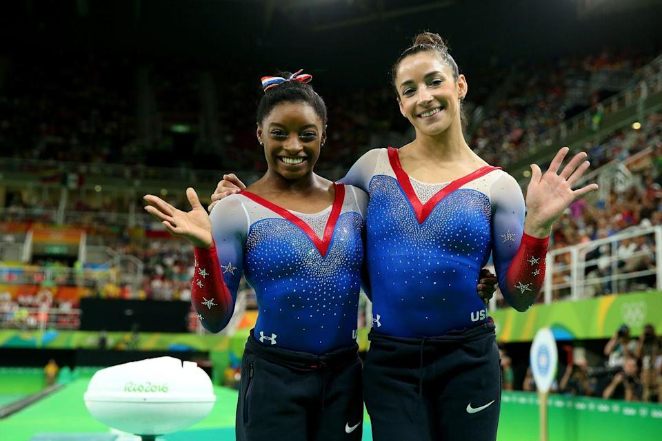 """<p><a href=""""https://www.buzzfeed.com/annanorth/the-10-most-unusual-rules-of-the-olympic-games"""" rel=""""nofollow noopener"""" target=""""_blank"""" data-ylk=""""slk:Gymnasts' uniforms"""" class=""""link rapid-noclick-resp"""">Gymnasts' uniforms </a>are strictly regulated, and scoop or v-necks that extend beyond the mid-sternum aren't allowed. </p>"""