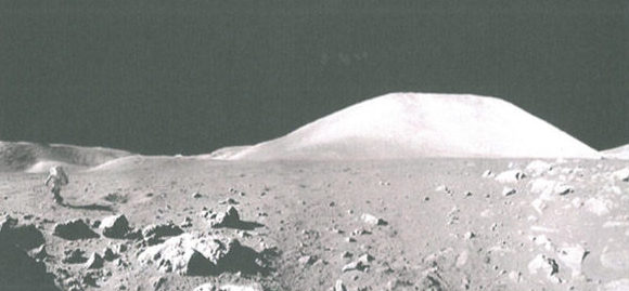 David's examined the terrain of the moon as was shown to the public. Photo: NASA