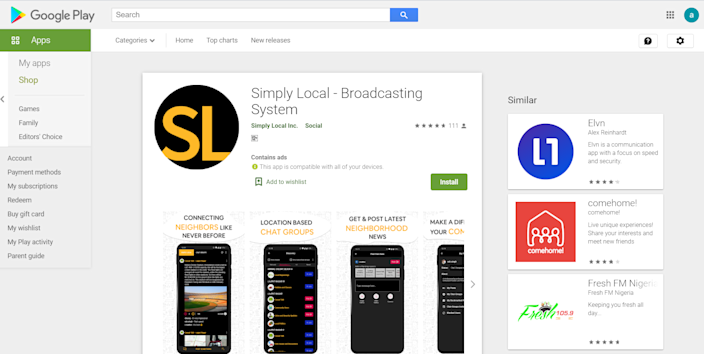 Simply Local App is available on Google Play Store