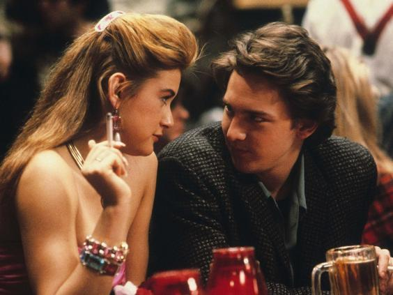 Jules (Demi Moore) and Kevin (Andrew McCarthy) deliver a portrait of Eighties excess (Rex)