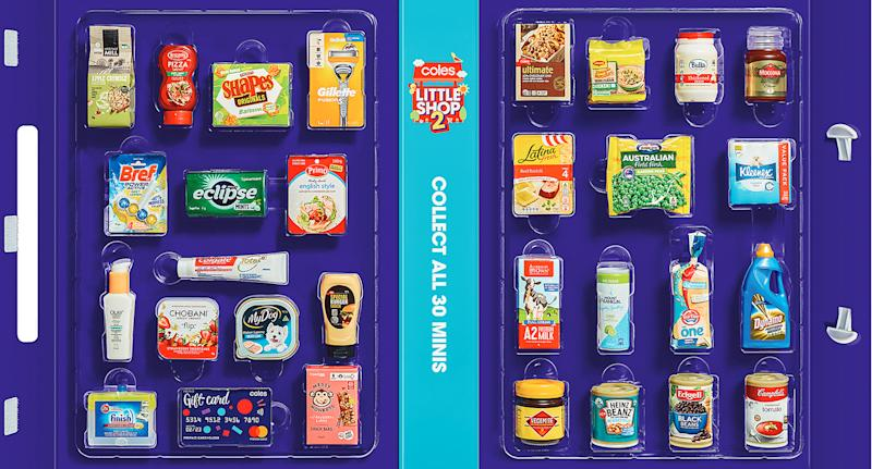 The full Little Shop Two collectable range from Coles.