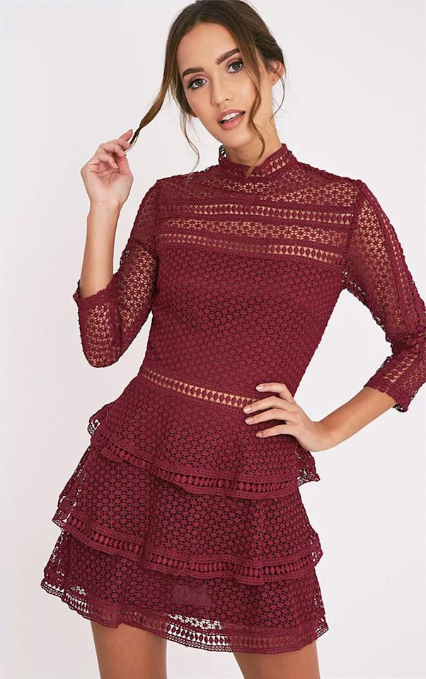 """<p>Shop the entire <a rel=""""nofollow"""" href=""""https://www.prettylittlething.com/"""">Pretty Little Thing website</a> with up to 50% off on Black Friday and find even bigger discounts on selected items.</p><p>Caya Berry Lace Panel Tiered Mini Dress, was £40 now £14.20, Pretty Little Thing</p><p><a rel=""""nofollow"""" href=""""https://www.prettylittlething.com/caya-berry-lace-panel-tiered-mini-dress.html"""">BUY NOW</a><br></p>"""