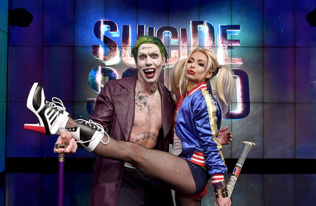 <p>As usual, <i>Live With Kelly</i> featured multiple costume changes for its Halloween show, including Ripa and guest co-host Jerry O'Connell's fun take on <i>Suicide Squad</i>'s Harley Quinn and the Joker. (Photo: David M. Russell//Disney/ABC Home Entertainment and TV Distribution) </p>