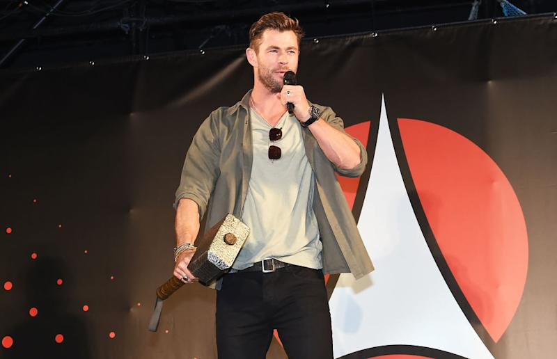 Chris Hemsworth during the Tokyo Comic Con 2019 on November 23, 2019 in Chiba, Japan.