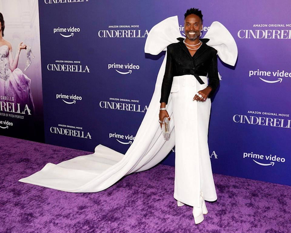 <p>Also at the <em>Cinderella</em> L.A. premiere: Billy Porter dons a stunning black-and-white ensemble. </p>