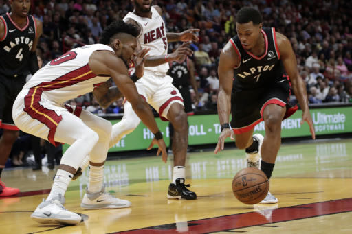 Herro helps Heat surge past Raptors