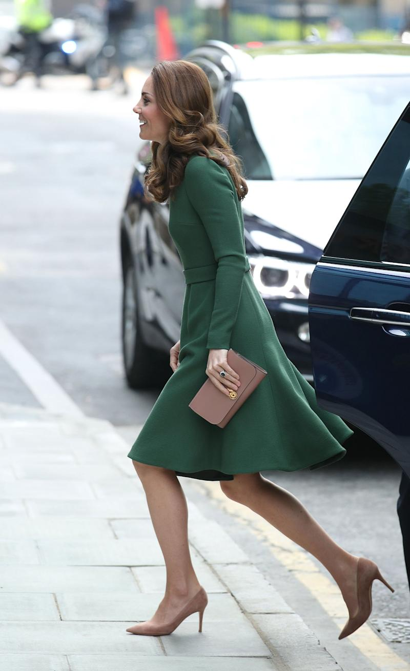 The Duchess of Cambridge arrives at the Anna Freud Centre of Excellence (PA)