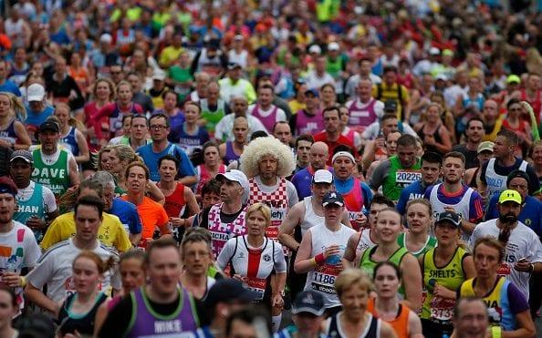 Where's that wally? It can be easy to lose your friends in the Marathon - 2015 Getty Images