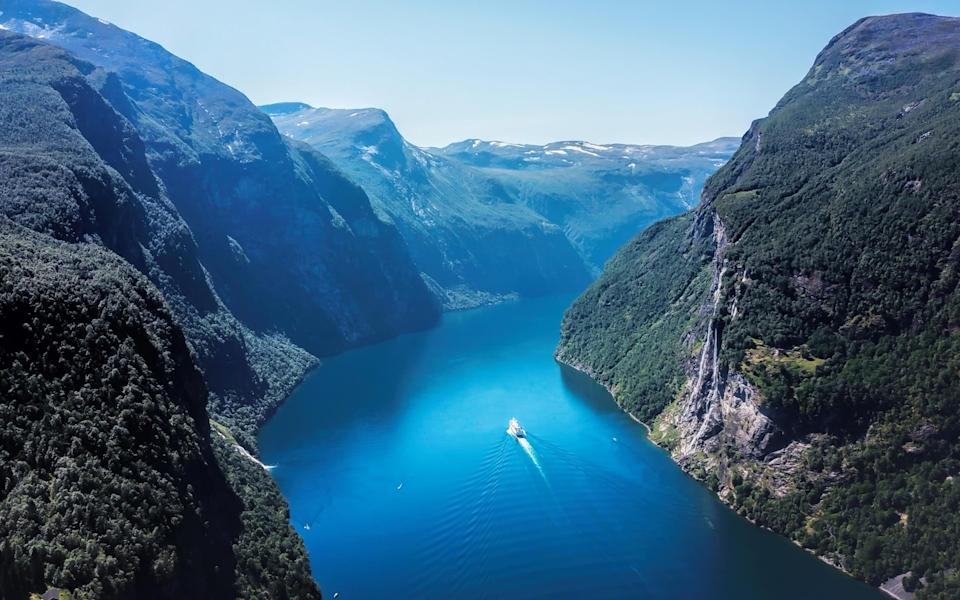 Cruises through the Norwegian fjords offer activities for the whole family (plus an abundance of beautiful landscapes) - GEIR KRISTIANSEN