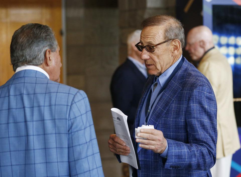 Stephen Ross answered questions from Colin Kaepernick's legal team on Tuesday. (AP)