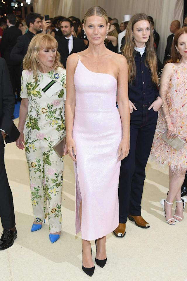 <p>The actress made her return to the Met Gala with a pink one-shoulder gown from Calvin Klein by Appointment. (Photo by Dia Dipasupil/Getty Images For Entertainment Weekly) </p>