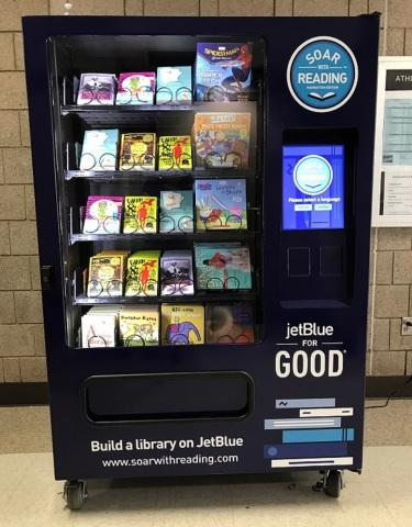 JetBlue's Soar with Reading Initiative Lands in New York City Placing Free Book Vending Machines in Each of the Five Boroughs