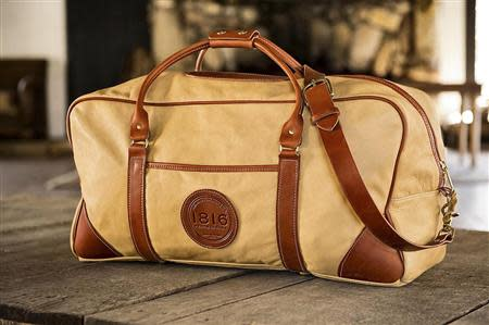 A leather duffle bag made by '1816 by Remington' is seen in an undated handout picture released to Reuters on November 1, 2013. REUTERS/1816 by Remington/Handout via Reuters