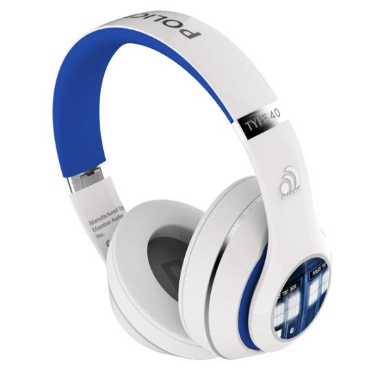 """<p>Leather ear pads, a noise-canceling microphone, and a spiffy TARDIS logo make these headphones music to our ears. Now you can blast the <i>Doctor Who </i>theme song over and over again without disturbing any of your companions. <b><a href=""""https://www.bbcdoctorwhoshop.com/en/doctor-who-tardis-wired-headphones"""">Doctor Who Official Store</a>, $69.98</b></p><p><i>(Credit: <i>BBC</i>)</i></p>"""