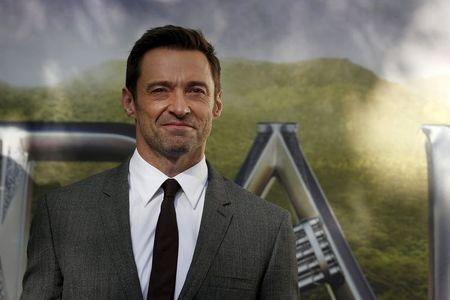 """Actor Hugh Jackman arrives for the world premiere of """"Pan"""" at Leicester Square in London, Britain"""