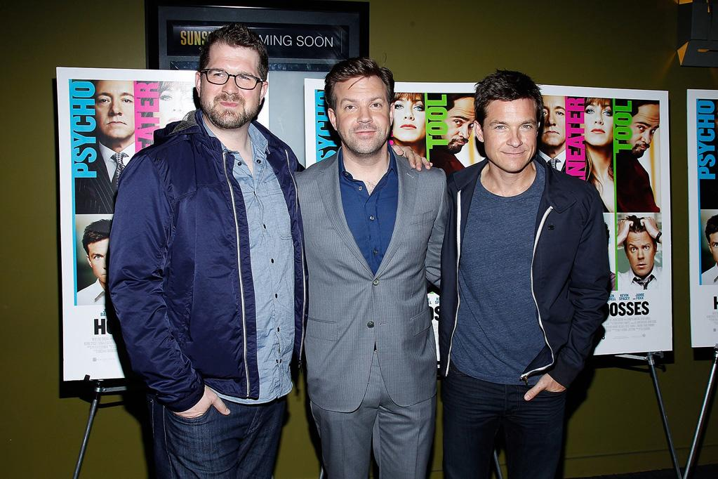 """<a href=""""http://movies.yahoo.com/movie/contributor/1809218290"""">Seth Gordon</a>, <a href=""""http://movies.yahoo.com/movie/contributor/1809724956"""">Jason Sudeikis</a> and <a href=""""http://movies.yahoo.com/movie/contributor/1800019148"""">Jason Bateman</a> at the New York screening of <a href=""""http://movies.yahoo.com/movie/1810161382/info"""">Horrible Bosses</a> on June 23, 2011."""