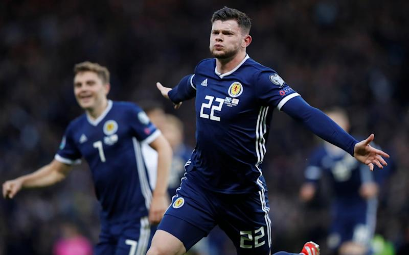 Oliver Burke came off the bench to score the winner against Cyprus - REUTERS
