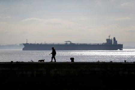 FILE PHOTO: Rio Arauca vessel is seen in Tagus river, in Lisbon