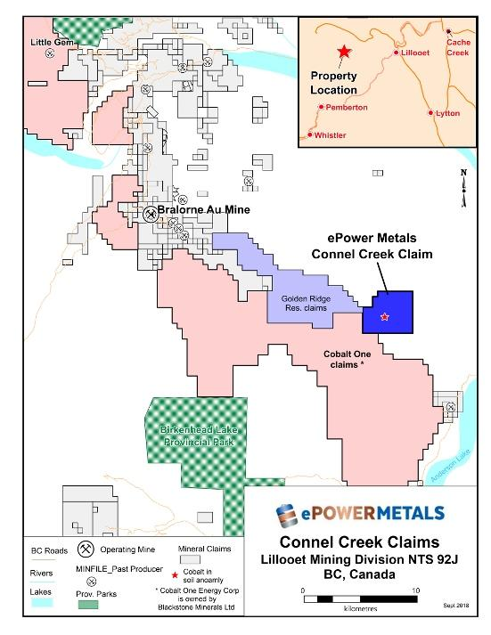 ePower Metals Purchases Connel Creek Cobalt Project, Lillooet Mining
