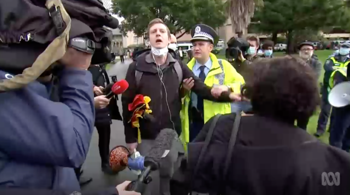 Black Lives Matter protesters have been arrested in Sydney, including organiser Paddy Gibson, according to the ABC. Source: ABC