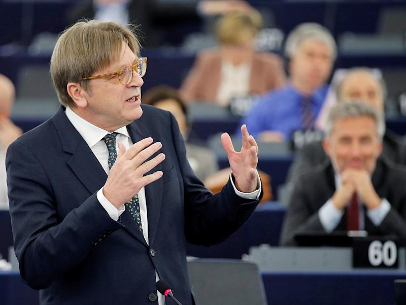 European Union's chief Brexit negotiator Guy Verhofstadt, who one Brussels source called