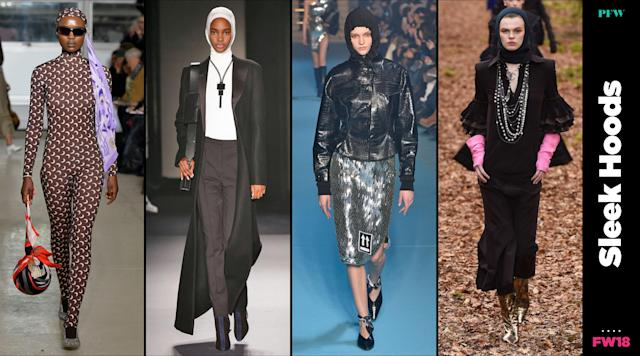 Hoods dominated the catwalk at Paris Fashion Week. (Photo: Getty, Art: Quinn Lemmers)