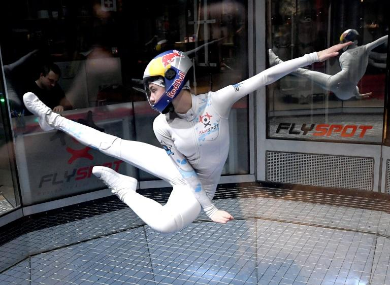 Polish high school student Maja Kuczynska, aged 17, is one of about 20 top indoor skydiving competitors worldwide