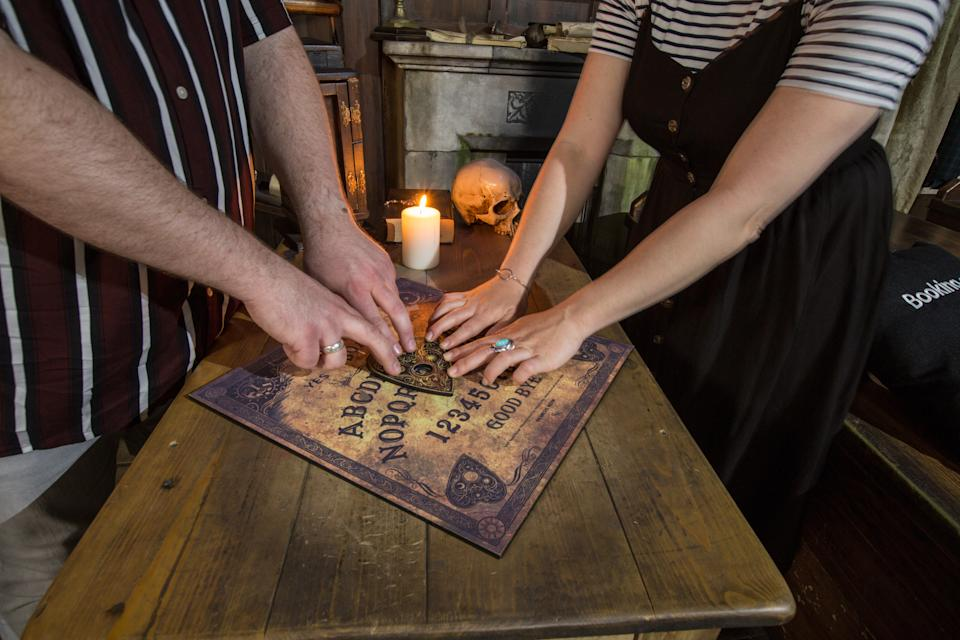 The sleepover will include a professional medium and a Ouija board reading. [Photo: PA]