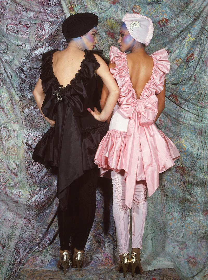 Models in pieces from the Indian collection, Fall 1982