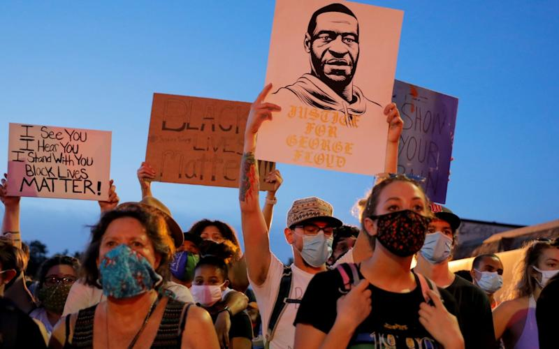 A protest in memory of George Floyd in Minneapolis - Reuters