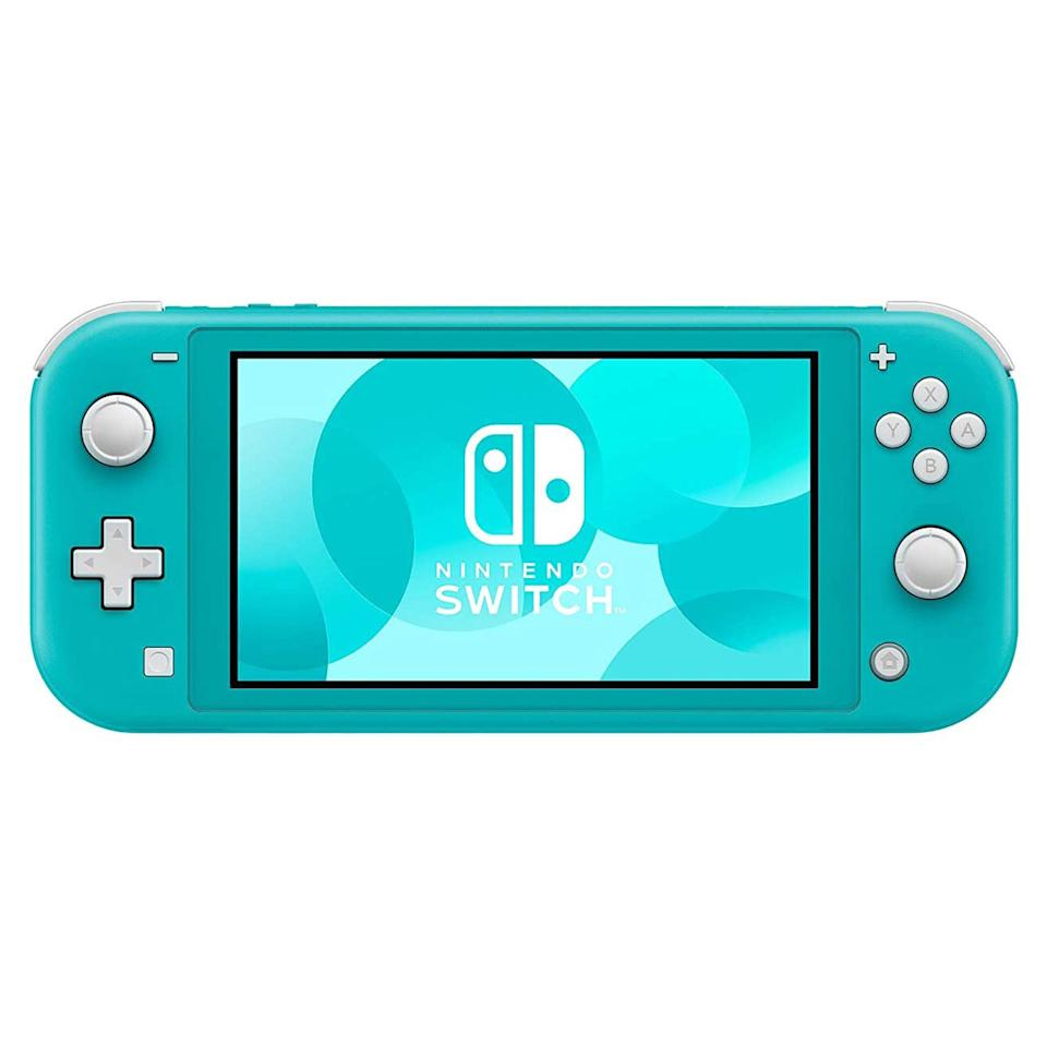 """<p><strong>Nintendo</strong></p><p>amazon.com</p><p><strong>$214.39</strong></p><p><a href=""""https://www.amazon.com/dp/B07VKJ57TW?tag=syn-yahoo-20&ascsubtag=%5Bartid%7C10060.g.37678212%5Bsrc%7Cyahoo-us"""" rel=""""nofollow noopener"""" target=""""_blank"""" data-ylk=""""slk:Shop Now"""" class=""""link rapid-noclick-resp"""">Shop Now</a></p><p>The undisputed best handheld console is the Nintendo Switch and Nintendo Switch Lite. As we're recommending purely handheld and portable consoles, we've highlighted the Nintendo Switch Lite, but for much of the same reasons we <a href=""""https://www.popularmechanics.com/technology/g36342312/best-nintendo-switch-accessories/"""" rel=""""nofollow noopener"""" target=""""_blank"""" data-ylk=""""slk:love the original Nintendo Switch"""" class=""""link rapid-noclick-resp"""">love the original Nintendo Switch</a>. </p><p>With an incredible library of games ranging from Nintendo blockbusters to indie darlings, the Switch offers some of the <a href=""""https://www.popularmechanics.com/technology/g36740547/best-nintendo-switch-games/"""" rel=""""nofollow noopener"""" target=""""_blank"""" data-ylk=""""slk:best games"""" class=""""link rapid-noclick-resp"""">best games</a> on any gaming console, not just portable ones. With fun colorways, an intuitive button layout, great battery life, expandable storage via micro SD, and newly added Bluetooth audio connectivity, the Switch Lite is an all-round top-tier handheld gaming system.</p>"""