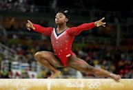 <p><em>Simone Biles</em></p><p>While these looks are all cool, the athletes don't pick 'em. Final leotard design say goes to their coach and no one else! (Stay tuned for looks from this year once the Olympics start!)</p>