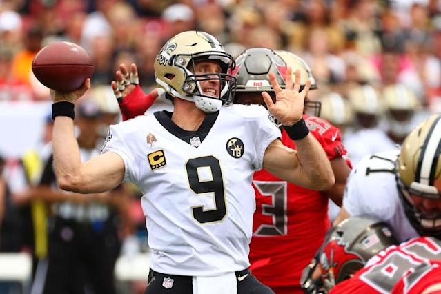 Will Drew Brees put the Saints offense back together when fantasy owners need it the most? (Photo by Will Vragovic/Getty Images)