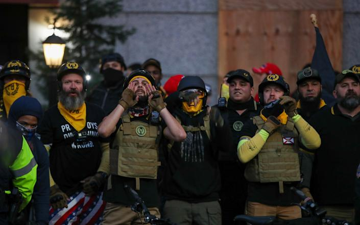 "Proud Boys after the ""Million MAGA March"" from Freedom Plaza to the US Capitol in Washington -  Anadolu"