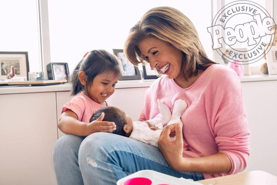 Hoda Kotb and her two daughters, Haley and Hope | Brian Doben