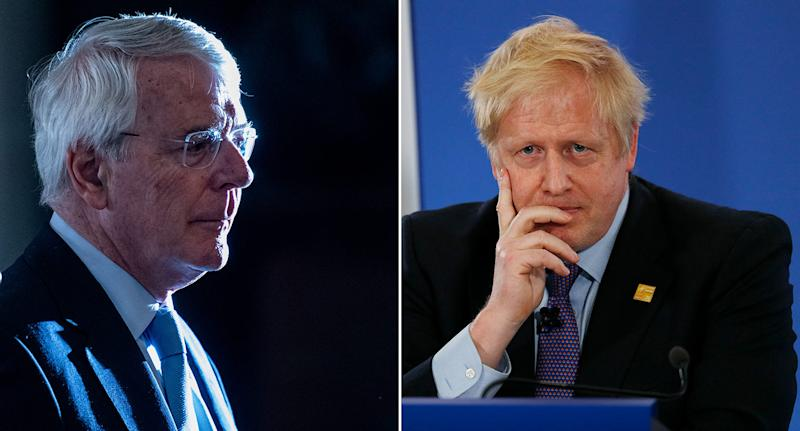 Sir John Major urged voters in three constituencies to vote against Boris Johnson's Tories