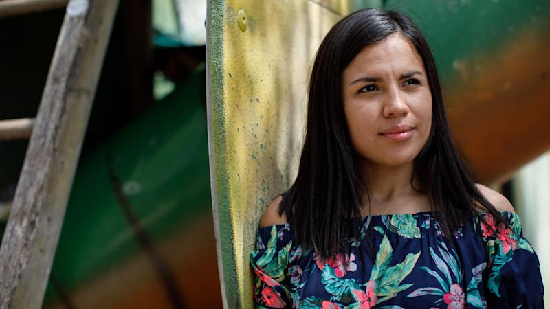 Colombian au pair Nathalie Torres del Castillo, photographed near her apartment in Vienna. (Photo: Michael Rathmayr for HuffPost)
