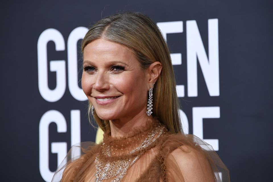 Gwyneth Paltrow's daughter has shared her take on the Goop entrepreneur's lockdown to-do list, pictured here at the Golden Globe Awards, January 2020 (Getty Images)