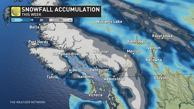 BC SNowfall forecast - March 1