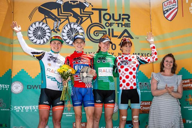 The final jersey winners at the 2018 Tour of the Gila.