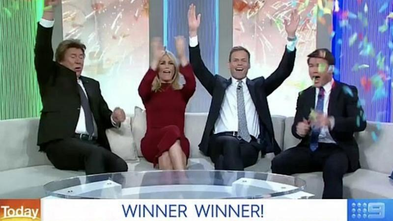 The Today show hosts are seen awarding a viewer with $250,000.