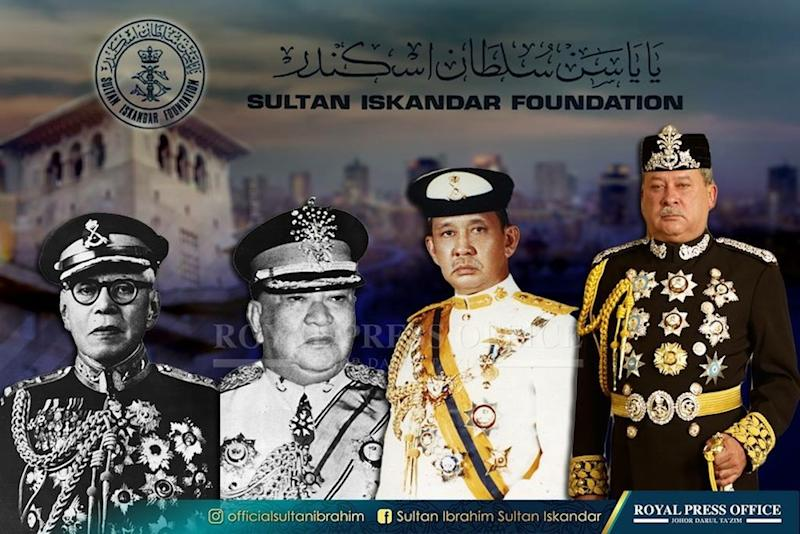 The Sultanate of Johor, since the reign of Almarhum Sultan Sir Ibrahim Sultan Abu Bakar in 1899 to date, has donated their entire state government allowances to assist the people of Johor. — Picture by courtesy of Johor Royal Press Office