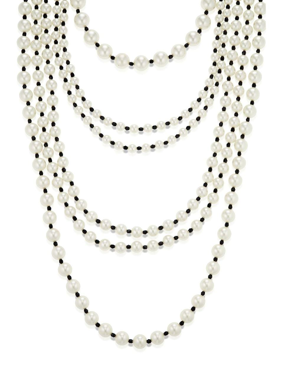 <p>What feels like the essence of the larger-than-life Gabrielle Chanel, this necklace is estimated to be worth $2,000 to $3,000.</p>