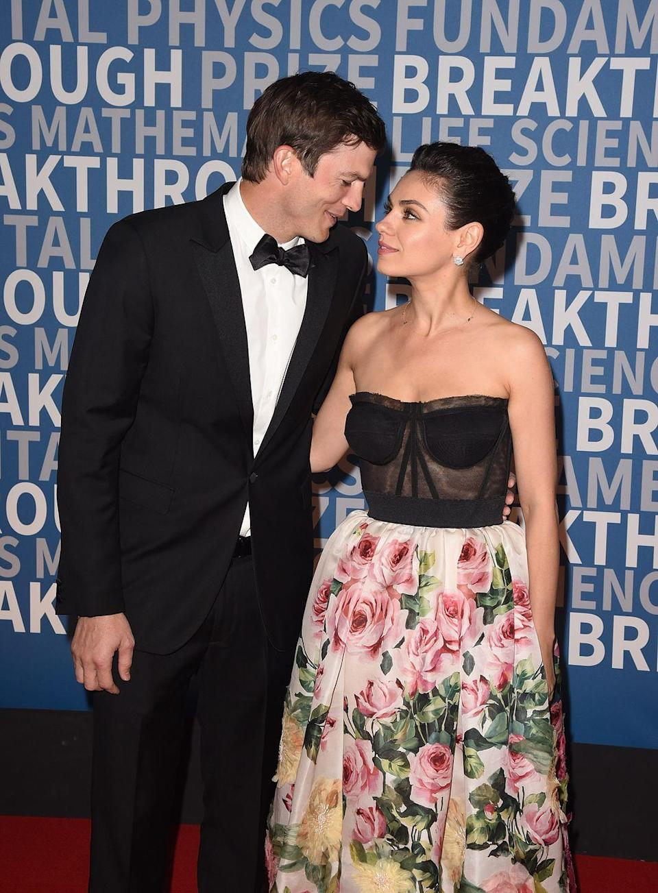 """<p>After his divorce, Kutcher reconnected with his former <em>That '70s Show</em> costar, Mila Kunis. After a few years of dating, the two married in July of 2015. """"I prize her as the most valuable person in the world to me,"""" Kutcher has said of Kunis, according to <em><a href=""""https://people.com/celebrity/ashton-kutcher-talks-about-having-sex-with-mila-kunis-their-beautiful-baby-and-brad-pitt/"""" rel=""""nofollow noopener"""" target=""""_blank"""" data-ylk=""""slk:People"""" class=""""link rapid-noclick-resp"""">People</a></em>.</p>"""