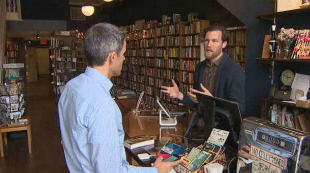 PHOTO: Adam Waterreus, owner of Lost City Books in Washington, DC, says he's lost 75% of his business because of the shutdown from novel coronavirus. (ABC NEWS)