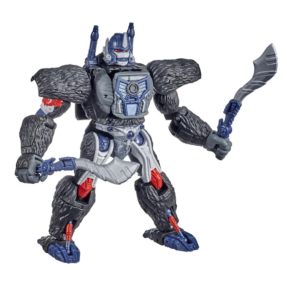 The Optimus Primal figure for the Transformers: War for Cybertron Kingdom line. (PHOTO: Hasbro)