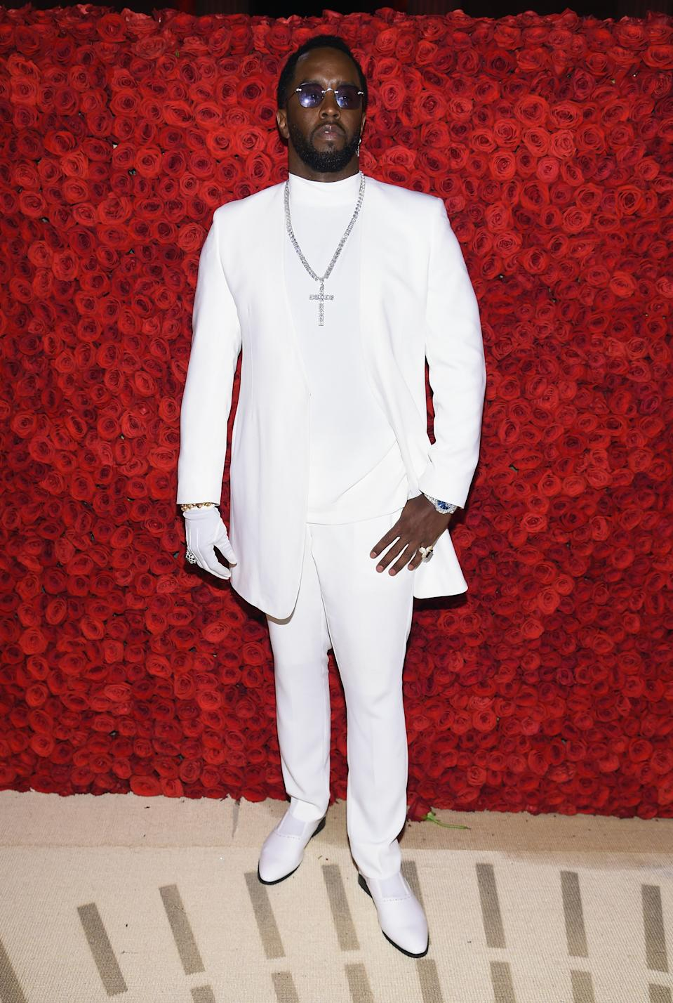 """<h1 class=""""title"""">Sean Combs in Musika Frère and Lorraine Schwartz jewelry</h1><cite class=""""credit"""">Photo: Getty Images</cite>"""