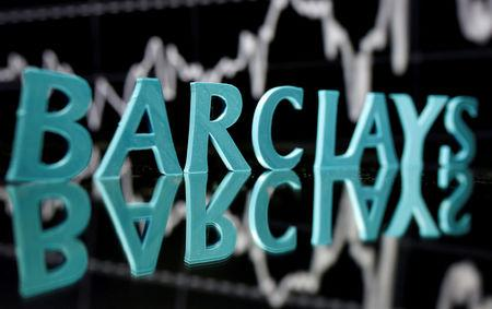 FILE PHOTO: The Barclays logo is seen in this illustration taken June 21, 2017. REUTERS/Dado Ruvic